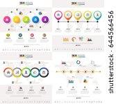 timeline infographics design...   Shutterstock .eps vector #644566456