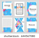 abstract vector layout... | Shutterstock .eps vector #644567080