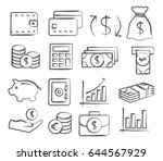 money icons in doodle style | Shutterstock .eps vector #644567929