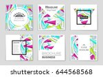 abstract vector layout... | Shutterstock .eps vector #644568568