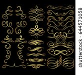 flourishes and swirls collection | Shutterstock .eps vector #644571058