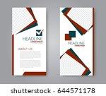 vector flyer and leaflet design.... | Shutterstock .eps vector #644571178