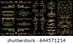golden flourishes and swirls... | Shutterstock .eps vector #644571214