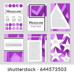 abstract vector layout... | Shutterstock .eps vector #644573503