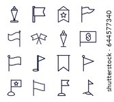 pennant icons set. set of 16... | Shutterstock .eps vector #644577340