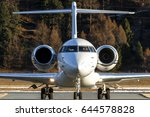private aircraft just landed....   Shutterstock . vector #644578828