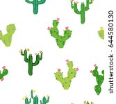vector seamless pattern with... | Shutterstock .eps vector #644580130