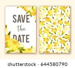flower greeting card background ... | Shutterstock .eps vector #644580790