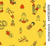 diwali   indian festival... | Shutterstock .eps vector #644581858