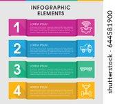 modern wheel infographic... | Shutterstock .eps vector #644581900