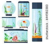 Transparent Aquarium Vector...