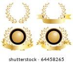 four golden medals of...   Shutterstock . vector #64458265