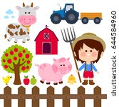 farming illustration set with... | Shutterstock .eps vector #644584960