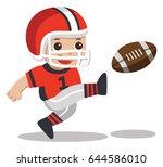 sport boys. a cute boy playing... | Shutterstock .eps vector #644586010
