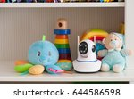 ip camera on the shelf with... | Shutterstock . vector #644586598