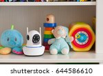 ip camera on the shelf with... | Shutterstock . vector #644586610