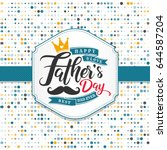 fathers day lettering... | Shutterstock .eps vector #644587204