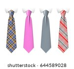 neck ties vector templates with ... | Shutterstock .eps vector #644589028