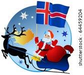 merry christmas  iceland  | Shutterstock .eps vector #64459204
