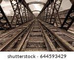 victoria bridge  | Shutterstock . vector #644593429