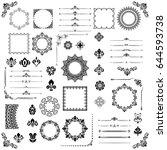 vintage set of vector... | Shutterstock .eps vector #644593738