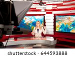 weather forecast. a television... | Shutterstock . vector #644593888