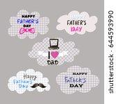 best dad ever. happy father's...   Shutterstock .eps vector #644593990