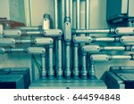 electrical conduit connected to ... | Shutterstock . vector #644594848