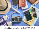 travel and vacation concept.... | Shutterstock . vector #644596156