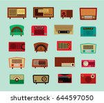 classic vintage radio vector... | Shutterstock .eps vector #644597050