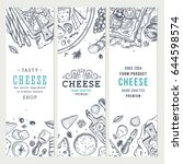 cheese vertical banner... | Shutterstock .eps vector #644598574