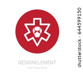 armed forces badges  labels or... | Shutterstock .eps vector #644599150