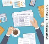 business news. businessman... | Shutterstock . vector #644599273
