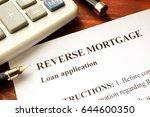 reverse mortgage loan...   Shutterstock . vector #644600350
