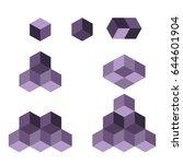 cube logo concept  vector... | Shutterstock .eps vector #644601904