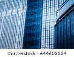 closeup of glass wall of modern ... | Shutterstock . vector #644603224