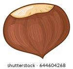 chestnut vector illustration   Shutterstock .eps vector #644604268