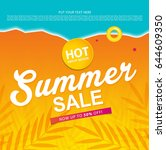 summer sale template banner or... | Shutterstock .eps vector #644609350