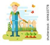 gardening and horticulture ... | Shutterstock .eps vector #644610778