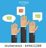 voting hand. flat design ...   Shutterstock .eps vector #644611288