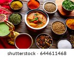 chicken jalfrazy indian food... | Shutterstock . vector #644611468