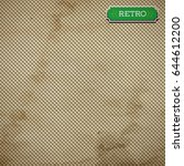 vector old paper sheet with... | Shutterstock .eps vector #644612200