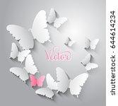 vector background. paper white... | Shutterstock .eps vector #644614234
