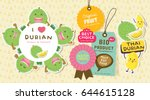 cute durian vector 10 | Shutterstock .eps vector #644615128