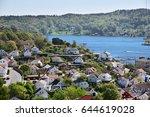 veiw over the arendal city ... | Shutterstock . vector #644619028