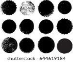 grunge post stamps collection ... | Shutterstock .eps vector #644619184