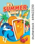 summer time. vector... | Shutterstock .eps vector #644622250