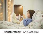 cute sick child  boy  staying...   Shutterstock . vector #644626453