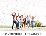 group of young people... | Shutterstock . vector #644626984