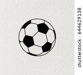 soccer  football  ball icon.... | Shutterstock .eps vector #644629138